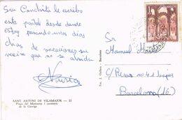37134. Postal  SAN ANTONIO De VILAMAJOR (Barcelona) 1968. Plaza De Montseny Y Carretera De La Garriga - 1931-Heute: 2. Rep. - ... Juan Carlos I
