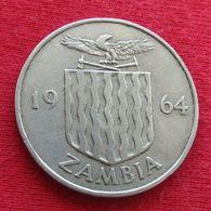 Zambia 2 Two Shillings 1964 KM# 3  Zambie Sambia - Zambia