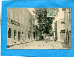 La ROQUEBRUSSANNE-Av De  Brignoles Animée-la Gendarmerie-a Voyagé En 1906-édition - La Roquebrussanne