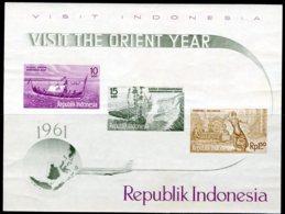 INDONESIE: ZB Blok B1/B4 MNH** 1961 Bevordering Toerisme Indonesië - Indonesia