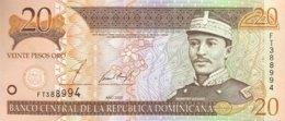 Dominican Republic 20 Pesos, P-169b (2002) - UNC - Dominicana