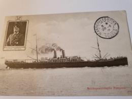 REICHSPOSTDAMPFER PREUSSEN LLOYD PAQUEBOT PRUSSE 1909 - Piroscafi