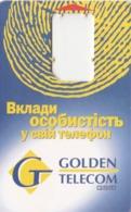 Ukraine, UA-GOL-GSM-0006, GSM Frame Without Chip, Fingerprint, 2 Scans. - Ukraine