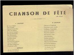 NOGENT LE ROTROU VERS 1946 QUARTIER CROIX LA COMTESSE TEXTE CHANSON HUMORISTIQUE SUR L ACTUALITE DU QUARTIER - Centre - Val De Loire