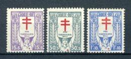 (B) 234/236 MH* 1925 - Tuberculosebestrijding. - Unused Stamps