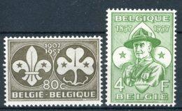 (B) 1022/1023 MNH** 1957 - 50ste Verjaardag Van De Padvindersbeweging. - Belgium