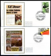(B) 2547/2548 FDC Z/s 1994 - Kranten. (2 St.) - 1991-00