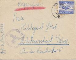 DR Feldpostmarke 1 A Auf Luftfeldpost-Brief, FPN 03393  6.10.1942 - Luftpost