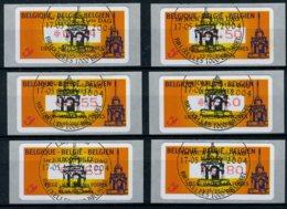 (B) ATM110A FDC 2004 - Leodiphilex (punt) Set 0,44-0,50-0,55-0,60-0,65- 0,80 Â? - Frankeervignetten