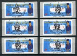 (B) ATM111A FDC 2004 - Tchanchès (punt) Set 0,44-0,50-0,55-0,60-0,65- 0,80 Â? - Postage Labels