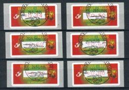 (B) ATM114A FDC 2005 - Sint-Michiel (rode Waardeopdruk) Set 0,44-0,50-0,60-0,65-0,70- 0,80 Â? - Postage Labels