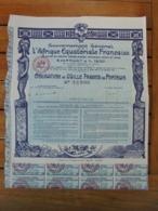 AFRIQUE - PARIS 1930 - GUVERNEMENT GENERAL DE  A. E. F. MOYEN GONGO, GABON, OUBANGUI CHARI, TCHAD - OBLIGATION 100 FRS - Shareholdings