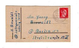 Brief Von 1944, Stempel Hohenziatz, Loburg Bz. Magdeburg, Deutsches Reich 12 Pfennig, Faltbrief - Germany