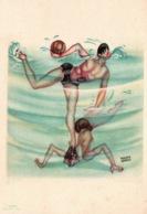 Humour, Illustration Franco Garelli - Waterpolo - Jeux Universitaires Internationaux, Torino 1933 - Other