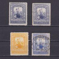PERU 1895, Sc #134-137, Part Set, MH/Used - Peru