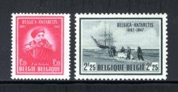 749/750 MNH 1947 - 50e Verjaardag Van De Zuidpoolexpeditie Van De Belgica. - Belgio