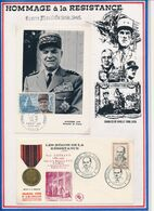 FRANCE - CARTE OBLI ALPHONSE JUIN MARECHAL DE FRANCE PARIS 28.02.70 + FDC OBLI MEMORIAL PAUL GATEAUD MACON 22.04.61 - Guerre Mondiale (Seconde)