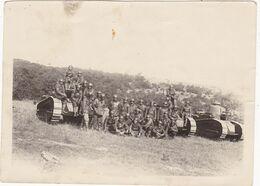 Photo Originale  : Militaria - Militaire : Groupe De Soldats Tankiste Avec Tanks - Char : Format 12cm X 8,5cm - Guerre, Militaire