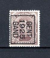 PRE111B MNH** 1925 - GENT 1925 GAND - Typografisch 1922-26 (Albert I)