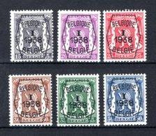 PRE333/338 MNH** 1938 - Klein Staatswapen I Opdruk Type A - REEKS 1 - Typografisch 1936-51 (Klein Staatswapen)