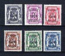 PRE351/356 MNH** 1939 - Klein Staatswapen I Opdruk Type A - REEKS 4 - Typografisch 1936-51 (Klein Staatswapen)