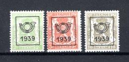 PRE417/419 MNH 1939 - Klein Staatswapen Opdruk Type C - REEKS 15 - Typografisch 1936-51 (Klein Staatswapen)