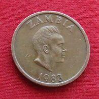 Zâmbia 2 Ngwee 1983 KM# 10a *V2 Zambie Sambia - Zambia