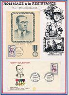 FRANCE - CARTE + FDC OBLI PREMIER JOUR JACQUES RENOUVIN PARIS 22.04.61 - Guerre Mondiale (Seconde)