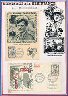 FRANCE - CARTE + FDC OBLI PREMIER JOUR ROBERT KELLER LE PETIT QUEVILLY 18.05.57 - Guerre Mondiale (Seconde)