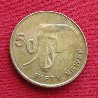 Zambia 50 Ngwee 2012 KM# 208 Elephant  Zambie Sambia - Zambia
