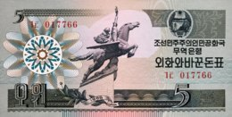 North Korea 5 Won, P-28 (1988) - UNC - Korea, Noord