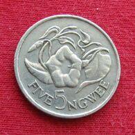 Zambia 5 Ngwee 1982 KM# 11 *V1 Zambie Sambia - Zambia