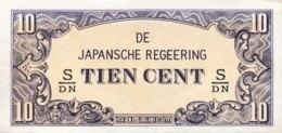 Netherland Indies 10 Cents, P-121c (1942) - UNC - Nederlands-Indië