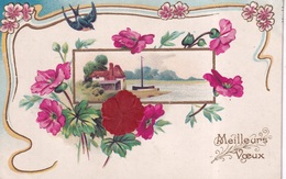 FANTAISIE(FLEUR) CARTE GAUFREE - 1er Avril - Poisson D'avril