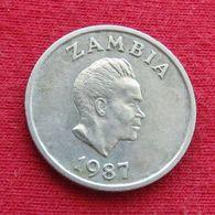 Zambia 5 Ngwee 1987 KM# 11  Zambie Sambia - Zambia