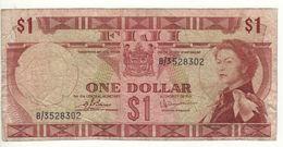 FIJI    1 Dollar   Queen Elizabeth II  P71b   (1974) - Fiji