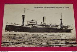 """CONGO BELGE -    """" ELISABETHVILLE  """" De La Compagnie  Maritime  Du Congo - Congo Belge - Autres"""