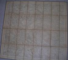 VECCHIA MAPPA -  OULX - SUSA -1906 - DE AGOSTINI - 1:50.000 - Carte Topografiche