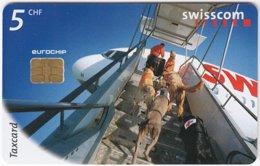 SWITZERLAND D-595 Chip Telecom - Animal, Rescue Dog - Used - Switzerland