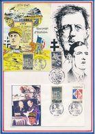 FRANCE -CARTE ET ENV. DE GAULLE OBLI CENTRE D'HISTOIRE DE LA RESISTANCE ET DE LA DEPORTATION LYON 15-16.10.92 - De Gaulle (Général)