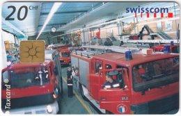 SWITZERLAND D-627 Chip Telecom - Traffic, Fire Engine - Used - Switzerland