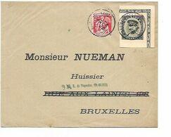 SH 0568. DECOUPURE EP KEPI 50c + TP 339 BRAINE L' ALLEUD 5.XI.1934 S/Lettre Vers Bruxelles. TB - Belgium