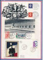 FRANCE - CARTE OBLI 1944 LIBERATION 1974 MONTBELIARD 1-17.11.74 + ANNIV LIBERATION STRASBOURG 23.11.74 + ENV. ST CYR ... - Guerre Mondiale (Seconde)