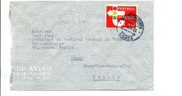 PORTUGAL SEUL SUR LETTRE POUR LA FRANCE 1965 - 1910-... República