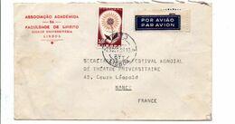 PORTUGAL SEUL SUR LETTRE POUR LA FRANCE 1961 - 1910-... Republik