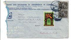 PORTUGAL AFFRANCHISSEMENT COMPOSE SUR LETTRE AVION POUR LA FRANCE 1965 - 1910-... República