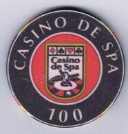 Casino Chip Spa Euro Race 100 BEF Casino De Spa Belgium Belgique België - Casino