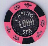 Casino Chip 1000 BEF Casino De Spa Belgium Belgique België - Casino