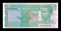 Ghana 1 Cedi 1979 Pick 17a SC UNC - Ghana