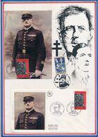 FRANCE - CARTE +FDC OBLI 50AIRE DE LA MORT DU LT COLONEL VERINES RESEAU ST JACQUES PARIS 23.10.93 - Guerre Mondiale (Seconde)